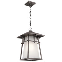 Kichler 49725WZCL16 Beckett 1 Light 12 inch Weathered Zinc Outdoor Hanging Pendant in LED, Dimmable