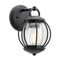 Vandalia 1 Light 12 inch Textured Black Outdoor Wall Light, Small