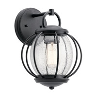 Vandalia 1 Light 12 inch Textured Black Outdoor Wall Light, Medium