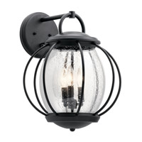 Kichler 49729BKT Vandalia 3 Light 18 inch Textured Black Outdoor Wall Light, X-Large