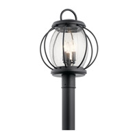 Vandalia 3 Light 19 inch Textured Black Outdoor Post Lantern