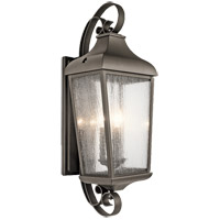 Kichler 49738OZ Forestdale 3 Light 31 inch Olde Bronze Outdoor Wall Light