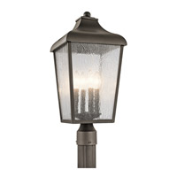Kichler 49739OZ Forestdale 4 Light 22 inch Olde Bronze Outdoor Post Lantern