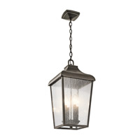 Kichler 49740OZ Forestdale 4 Light 10 inch Olde Bronze Outdoor Hanging Pendant