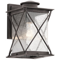 Kichler 49743WZC Argyle 1 Light 10 inch Weathered Zinc Outdoor Wall Light in Standard