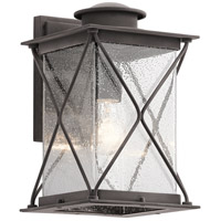 Argyle 1 Light 13 inch Weathered Zinc Outdoor Wall Light in Standard