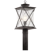 Kichler 49746WZC Argyle 1 Light 20 inch Weathered Zinc Outdoor Post Lantern