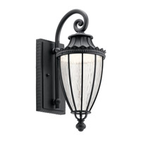 Kichler 49751BKTLED Wakefield LED 18 inch Textured Black Outdoor Wall Light, Small