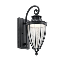 Wakefield LED 22 inch Textured Black Outdoor Wall Light, Medium