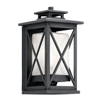 Kichler 49770DBK Piedmont 1 Light 12 inch Distressed Black Outdoor Wall Light, Small