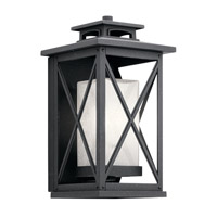 Piedmont 1 Light 15 inch Distressed Black Outdoor Wall Light, Medium