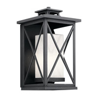 Kichler 49772DBK Piedmont 1 Light 18 inch Distressed Black Outdoor Wall Light, Large