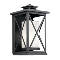 Kichler 49772DBK Piedmont 1 Light 18 inch Distressed Black Outdoor Wall Light Large