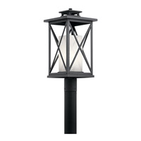Piedmont 1 Light 21 inch Distressed Black Outdoor Post Lantern
