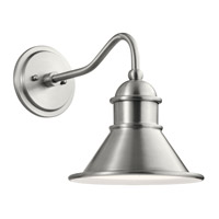 Kichler 49775BA Northland 1 Light 12 inch Brushed Aluminum Outdoor Wall Light, Small