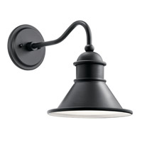 Kichler 49775BK Northland 1 Light 12 inch Black Outdoor Wall Light, Small