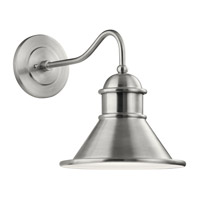 Kichler 49776BA Northland 1 Light 17 inch Brushed Aluminum Outdoor Wall Light, Large