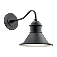 Kichler 49776BK Northland 1 Light 17 inch Black Outdoor Wall Light, Large