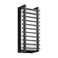 Kichler 49785BKLED Rockbridge LED 16 inch Black Outdoor Wall Light, Medium