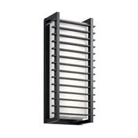 Kichler 49786BKLED Rockbridge LED 21 inch Black Outdoor Wall Light, Large