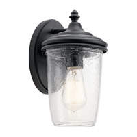 Kichler 49820BKT Yorke 1 Light 11 inch Textured Black Outdoor Wall Light, Small