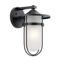 Finn 1 Light 16 inch Black Outdoor Wall Light, X-Large