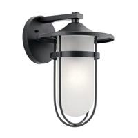 Kichler 49826BK Finn 1 Light 16 inch Black Outdoor Wall Light X-Large