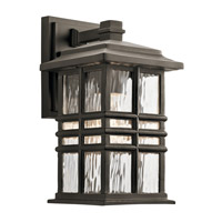 Kichler 49829OZ Beacon Square 1 Light 12 inch Olde Bronze Outdoor Wall Light, Small