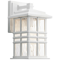 Kichler 49829WH Beacon Square 1 Light 12 inch White Outdoor Wall Light, Small