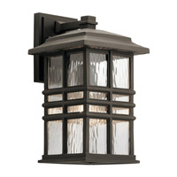 Kichler 49830OZ Beacon Square 1 Light 14 inch Olde Bronze Outdoor Wall Light, Medium