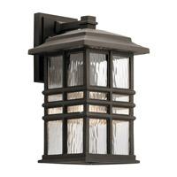 Kichler 49830OZ Beacon Square 1 Light 14 inch Olde Bronze Outdoor Wall Light, Medium