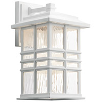 Kichler 49830WH Beacon Square 1 Light 14 inch White Outdoor Wall Light, Medium