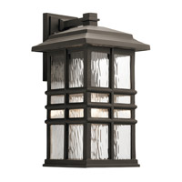 Kichler 49831OZ Beacon Square 1 Light 18 inch Olde Bronze Outdoor Wall Light, Large