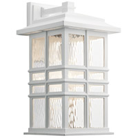 Kichler 49831WH Beacon Square 1 Light 18 inch White Outdoor Wall Light X-Large
