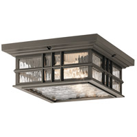Kichler 49834OZ Beacon Square 2 Light 12 inch Olde Bronze Outdoor Flush Mount