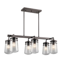 Kichler 49835AZ Lyndon 6 Light 17 inch Architectural Bronze Outdoor Chandelier photo thumbnail