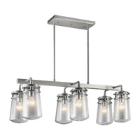 Kichler 49835BA Lyndon 6 Light 17 inch Brushed Aluminum Outdoor Chandelier