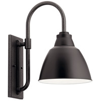 Kichler 49837BK Pellinord 1 Light 19 inch Black Outdoor Wall Light, X-Large