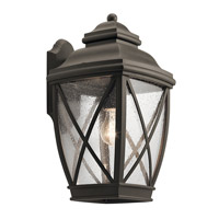 Kichler 49842OZ Tangier 1 Light 17 inch Olde Bronze Outdoor Wall Light, Large