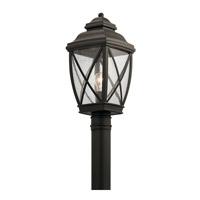 Kichler 49843OZ Tangier 1 Light 20 inch Olde Bronze Outdoor Post Lantern