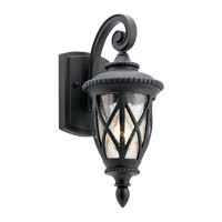 Admirals Cove 1 Light 15 inch Textured Black Outdoor Wall Light, Small