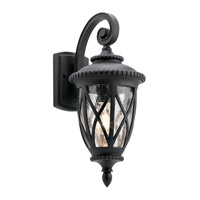 Admirals Cove 1 Light 19 inch Textured Black Outdoor Wall Light, Medium