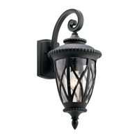 Kichler 49848BKT Admirals Cove 1 Light 24 inch Textured Black Outdoor Wall Light, Large