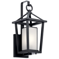Kichler 49876BK Pai 1 Light 17 inch Black Outdoor Wall Light
