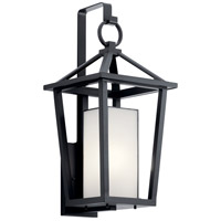 Kichler 49878BK Pai 1 Light 26 inch Black Outdoor Wall Light