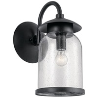 Kichler 49884DBK Hugo 1 Light 19 inch Distressed Black Outdoor Wall Light Large