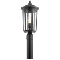 Kichler 49895BK Fairfield 1 Light 19 inch Black Post