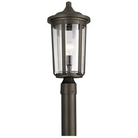 Kichler 49895OZ Fairfield 1 Light 19 inch Olde Bronze Outdoor Post Lantern