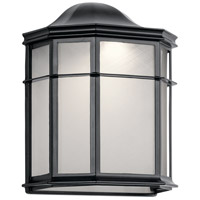 Kichler 49898BKLED Kent LED 10 inch Black Outdoor Wall Light, Medium