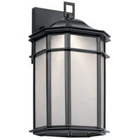 Kent LED 15 inch Black Outdoor Wall Light, Medium